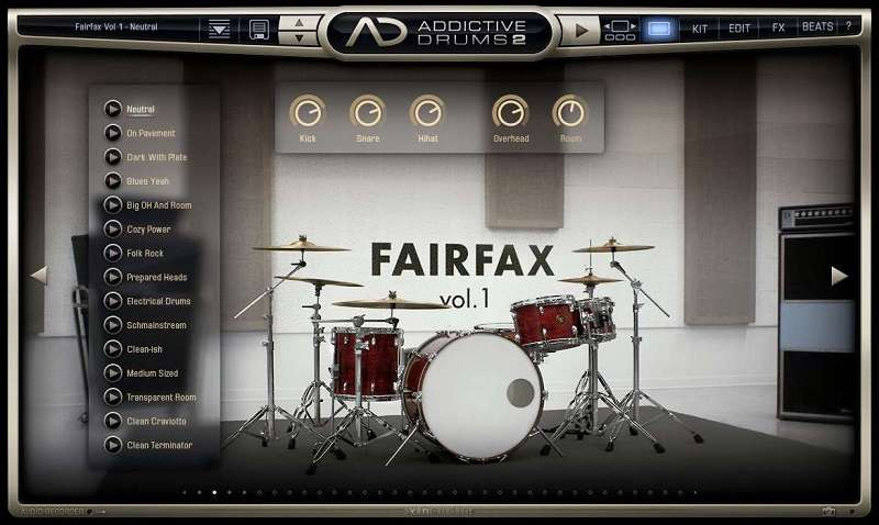 Addictive drums 2 de XLN Audio